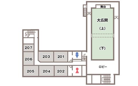 本館2階フロアマップ